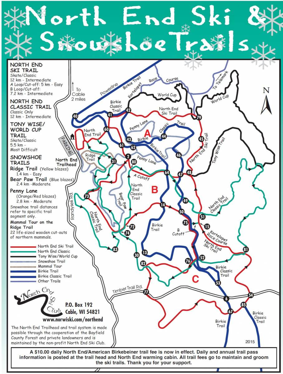 North End Ski & Snowshoe Trails
